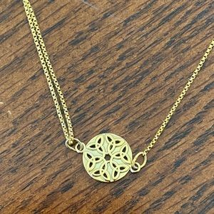 Alex and Ani Endless Knot Gold Necklace